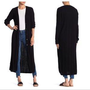 💛 nwt | free people | black long knit cardigan